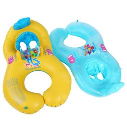 Inflatable Mother Baby Swimming Ring with Seat Floaties Swim