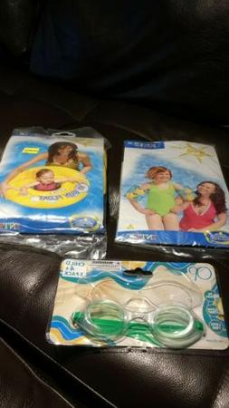 inflatable Intex my baby float circle and arm bands plus gog