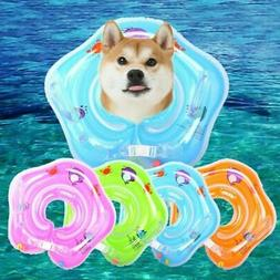 Inflatable Pet Dog Baby Swimming Ring Safety Neck Floats Bat