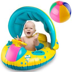 R • HORSE Inflatable Baby Pool Float Swimming Ring with Su