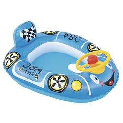 H2OGO! Inflatable Racer Baby Care Seat Pool Float, Blue
