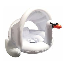 Viyor shop Baby Inflatable Swan Pool Float with Canopy,Swimm