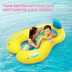 Inflatable Swimming Ring Mother & Baby Soft Swim Float Ring