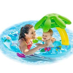 Inflatable Swimming Ring Baby Infant Pool Float Toys With Ca