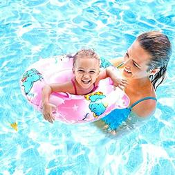 Inflatable Swimming Ring with Float Seat for 6 Months-6 Year