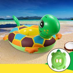 Inflatable Tortoise Baby Kids Toddler Infant Swimming Float