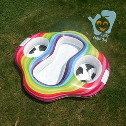 Inflatable Twin Baby Double Swim Float Seat Water Fun Toys P