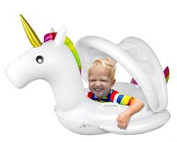 Inflatable Unicorn Baby Pool Float Swimming Ring Baby Seat B