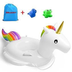Kemuse Inflatable Unicorn Baby Pool Float Swimming Ring For