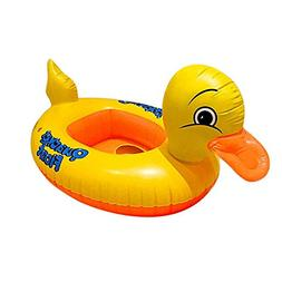 Easyinsmile Inflatable Yellow Duck Baby Floats Kids Learning