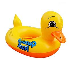 inflatable yellow duck floats seat