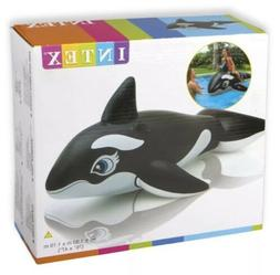 "INTEX KIDS INFLATABLE ORCA WHALE POOL FLOAT,BIG 76"" RIDE-ON"