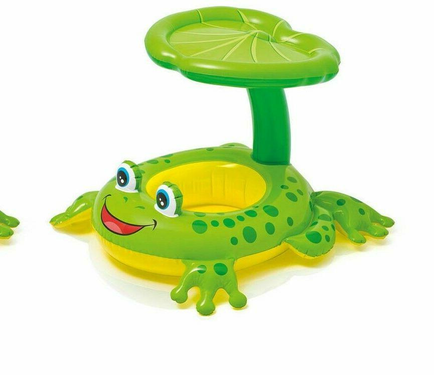 1 froggy friend shaded canopy baby kiddie