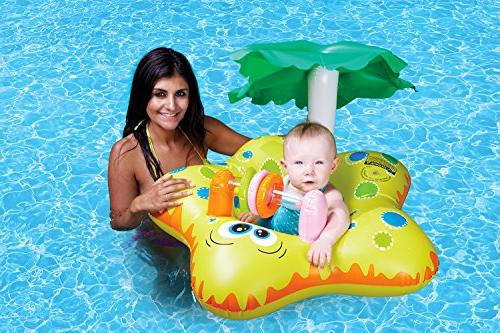 Poolmaster 81553 Learn-to-Swim Starfish Baby Float Rider with Shade