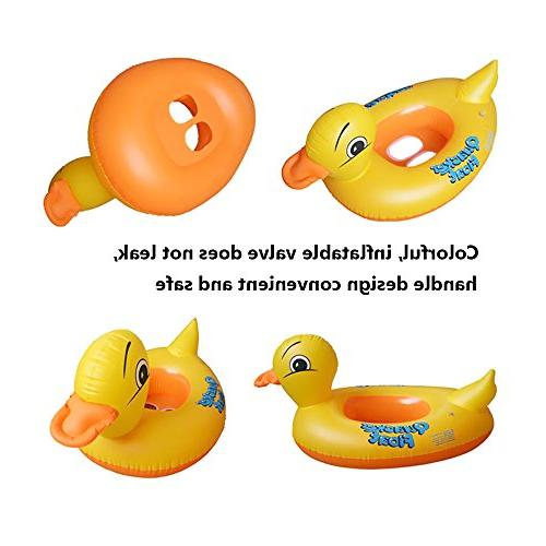 Inflatable Yellow Floats For Shower,Children's Early Learning Swimming Ring Water Fun Seat Float Pool Float Game Toys Kids Age years Up