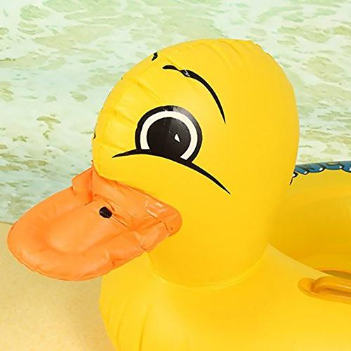 Inflatable Yellow Floats For Early Swimming Water Fun Rubber Duck Seat Float Boat, Pool Float Water Toys Age Up