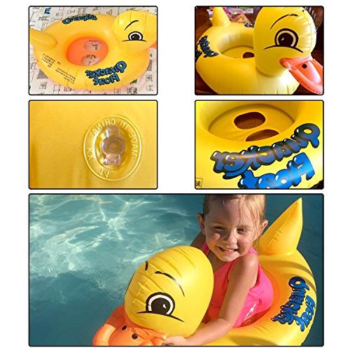 Inflatable Yellow Baby Floats Early Water Seat Boat, Pool Toys Tous Age old Up
