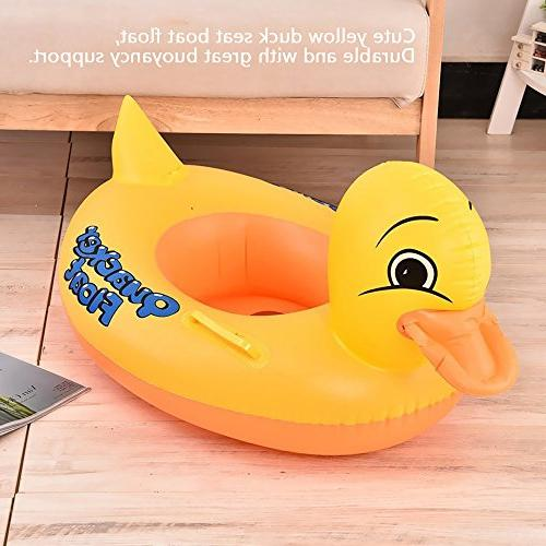 Inflatable Yellow Floats Shower,Children's Early Learning Swimming Water Fun Seat Float Boat, Duck Pool Float Toys For Tous Age 1 Up