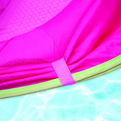 SwimSchool Adjustable Seat, Retractable Canopy, Pool Float, 6 24 Months, Pink