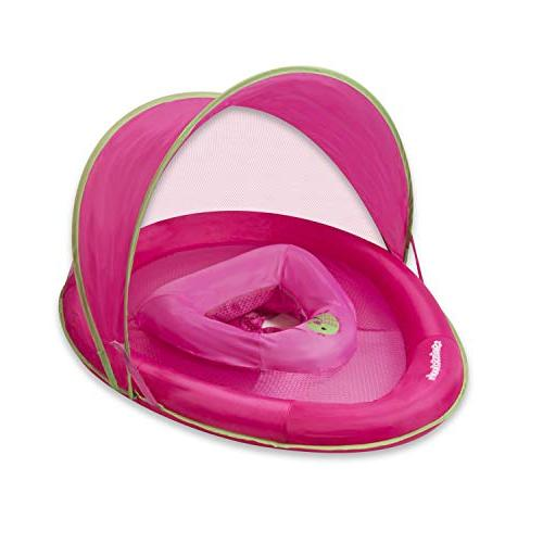 Adjustable Seat, Retractable Canopy, Pool Float, to 24 Pink