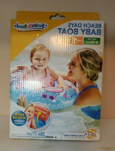 SwimSchool Beach Days Baby Boat with Adjustable Backrest Sea