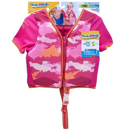 with Sun Protective Sleeves, Adjustable Safety Strap, Up to 33 Pink
