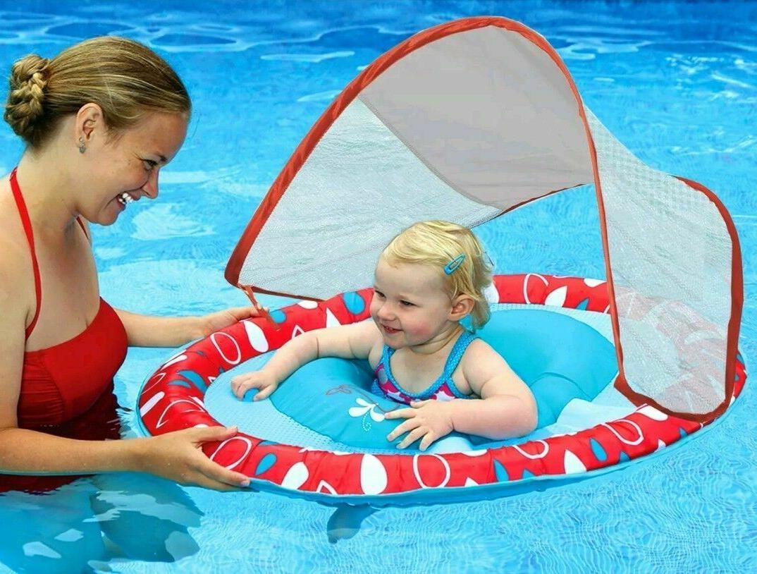 Swimways Baby Spring Float with Canopy - Pink Flower