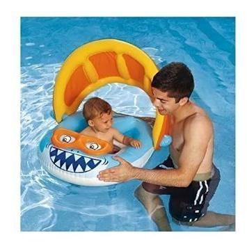 The BEST Inflatable Baby Float with Sun Shade Canopy! This I