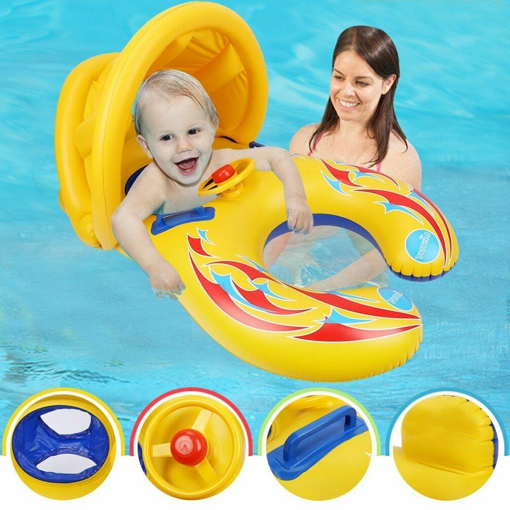 Punada Pool With Canopy Inflatable Floats For Kids Mom&Baby