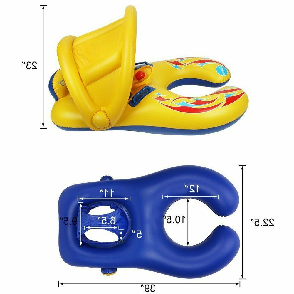 Punada Baby Float With Canopy Inflatable Swimming Floats For