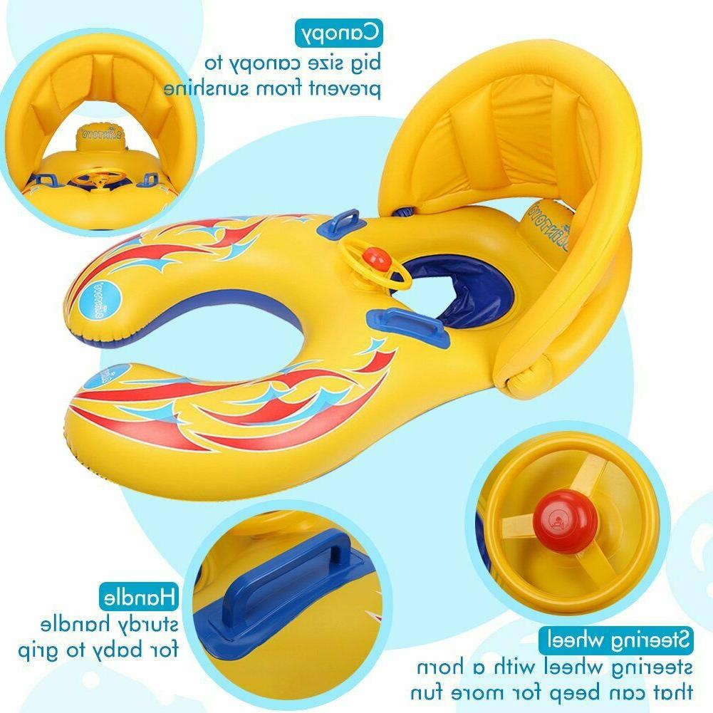 Punada With Canopy Floats Kids
