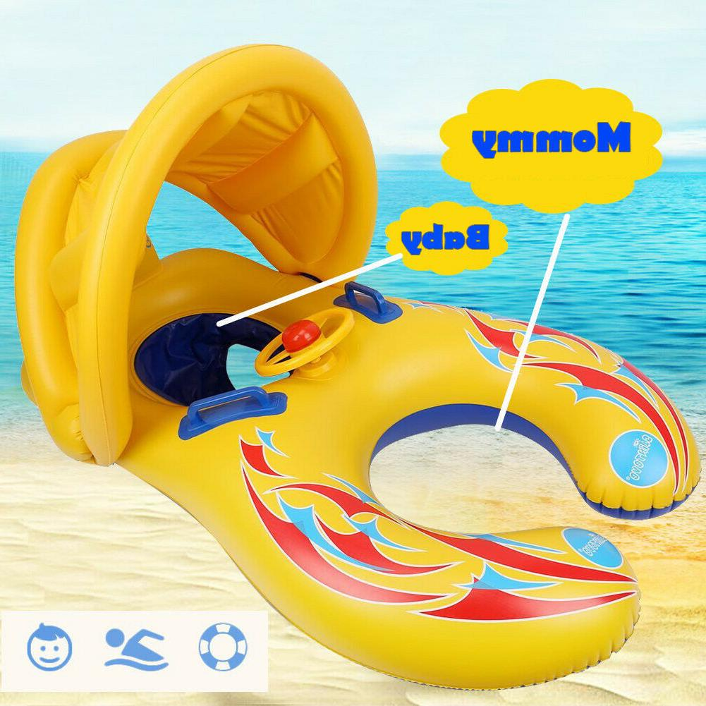 ada baby pool float with canopy inflatable