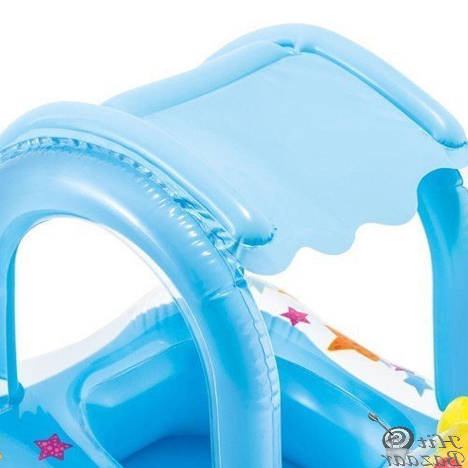 Infant Kiddie Tube Raft With Canopy Water