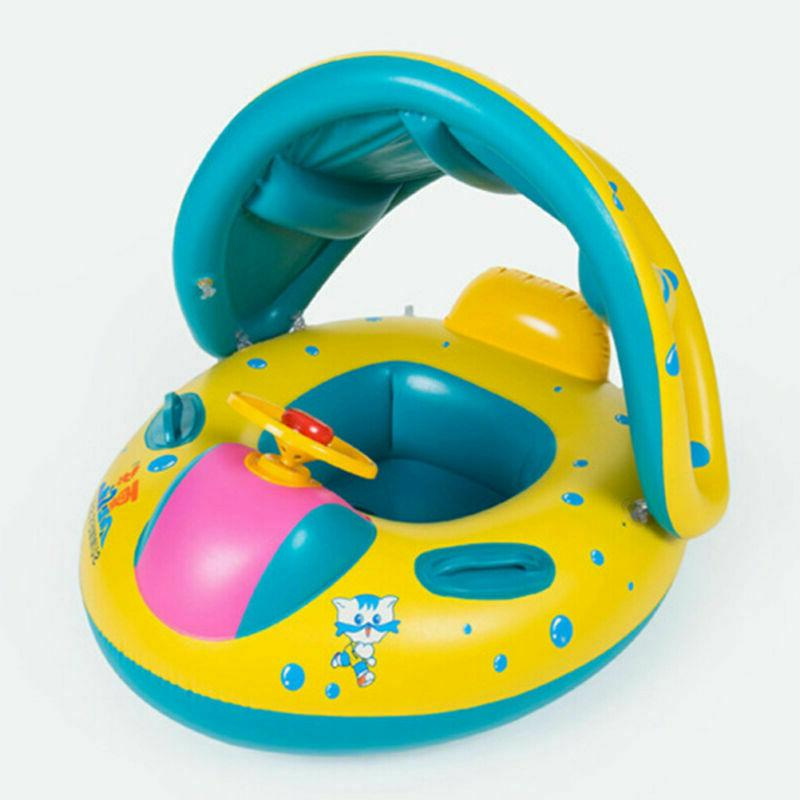 Blue Inflatable Baby Swim Ring