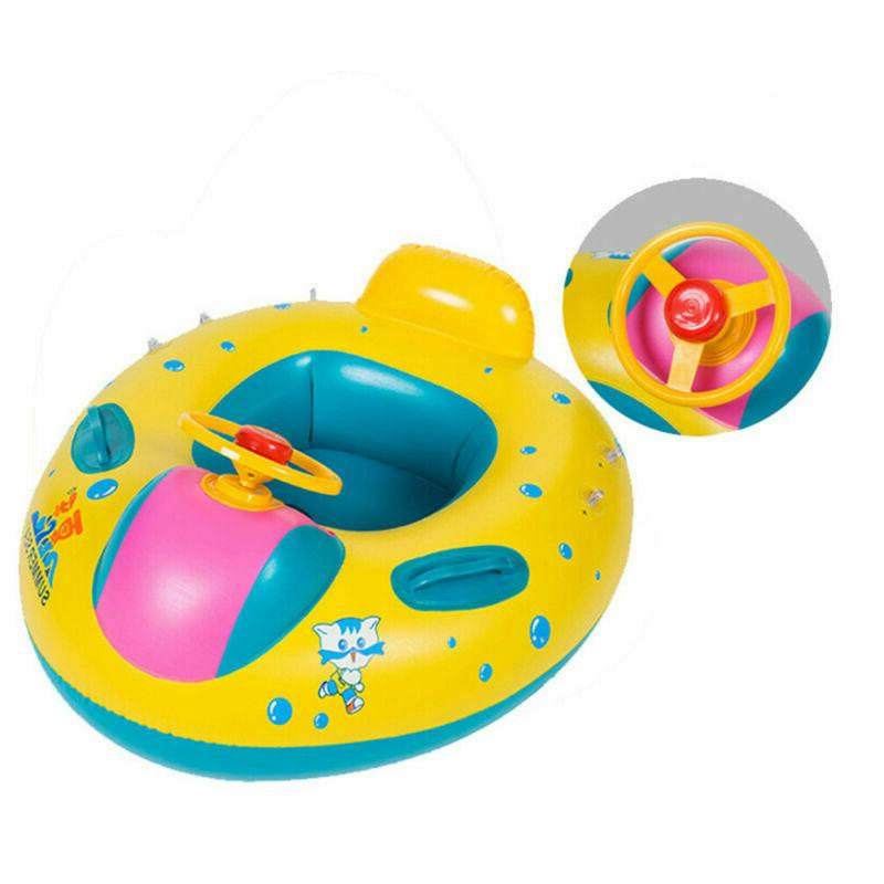 Baby Swimming Ring Kid Inflatable Trainer Pool Fun Toy US