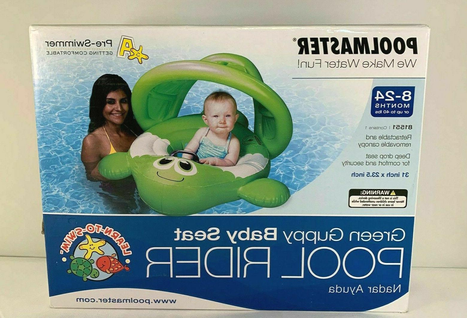 baby guppy pool rider float with canopy