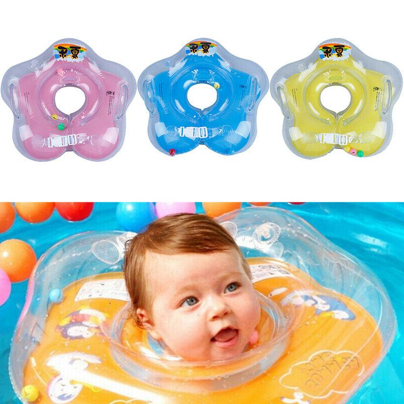 baby infant pools neck float ring inflatable