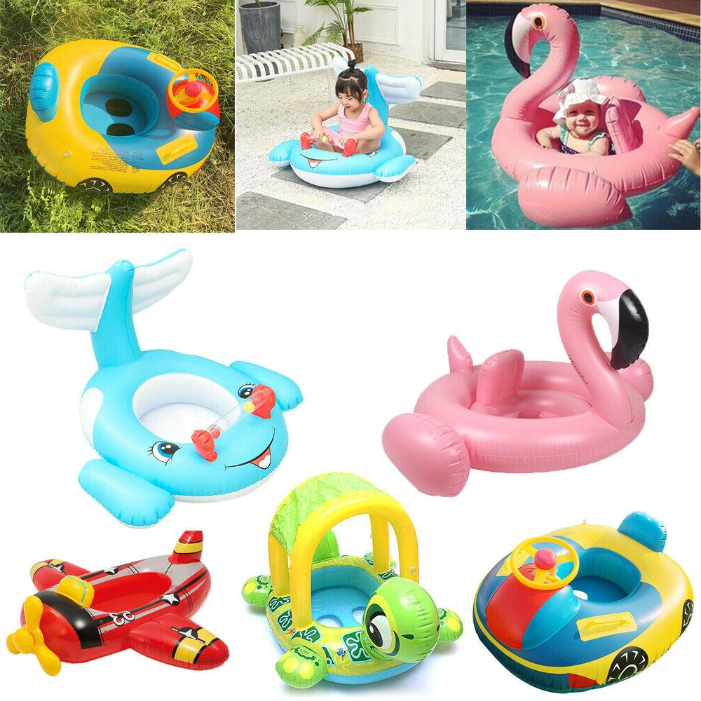 baby inflatable swimming ring seat floating car