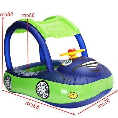 Baby Kids Seat Boat Ring Pool Water Fun Sunshade