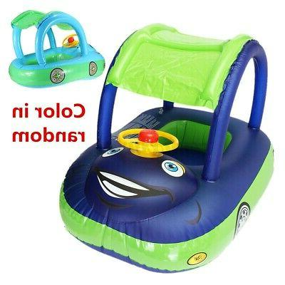 Baby Boat Swim Ring Water Sunshade