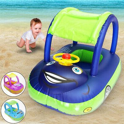 baby kids float seat boat inflatable swim
