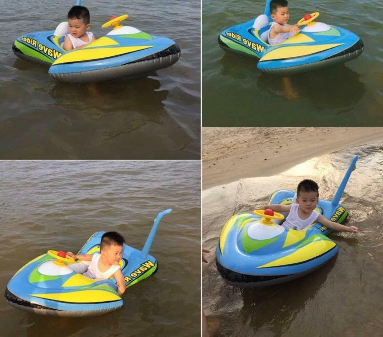 Baby inflatable float ring swim trainer fun