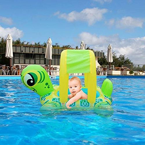 LOHOME Baby Pool - Ring with Sun Baby Safe with Sunshade for Swim