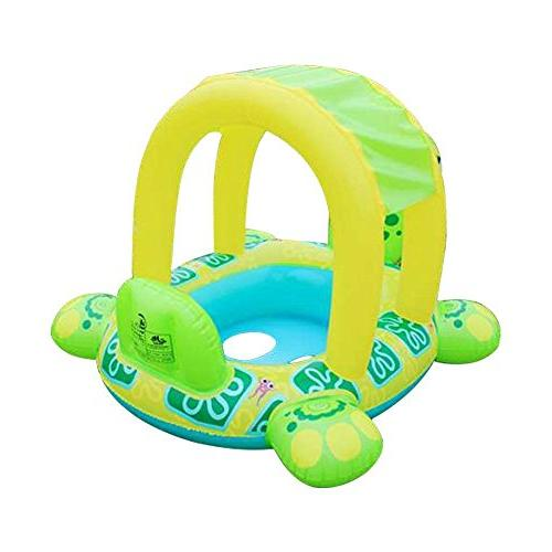 LOHOME Baby Pool - Inflatable Infant Ring with Sun Baby Sunshade