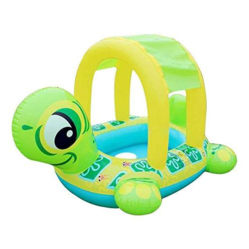 LOHOME Baby Pool - Inflatable Infant Swiming Ring Sun Canopy Baby Sit with Sunshade Swim Training