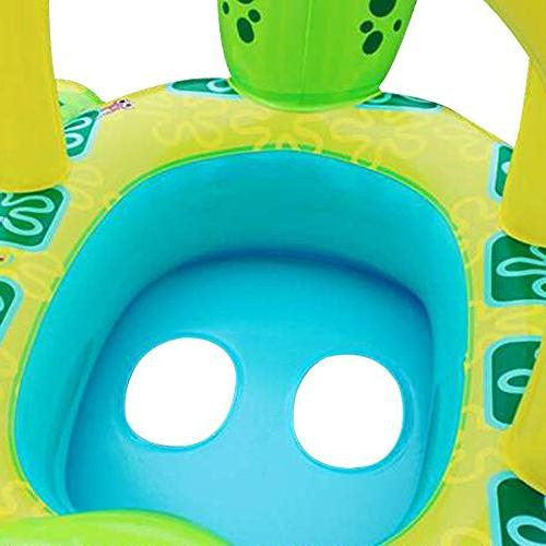 LOHOME Baby Pool - Inflatable Ring with Sun Baby Safe Sunshade for Swim