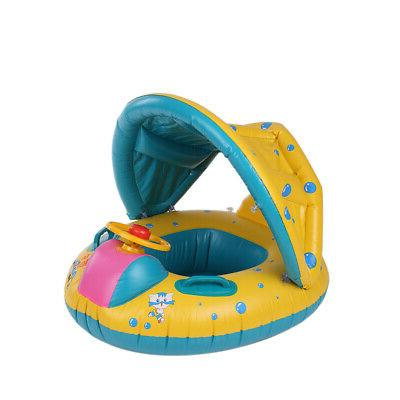 Baby Float Inflatable Swimming Ring with Shade I2L7