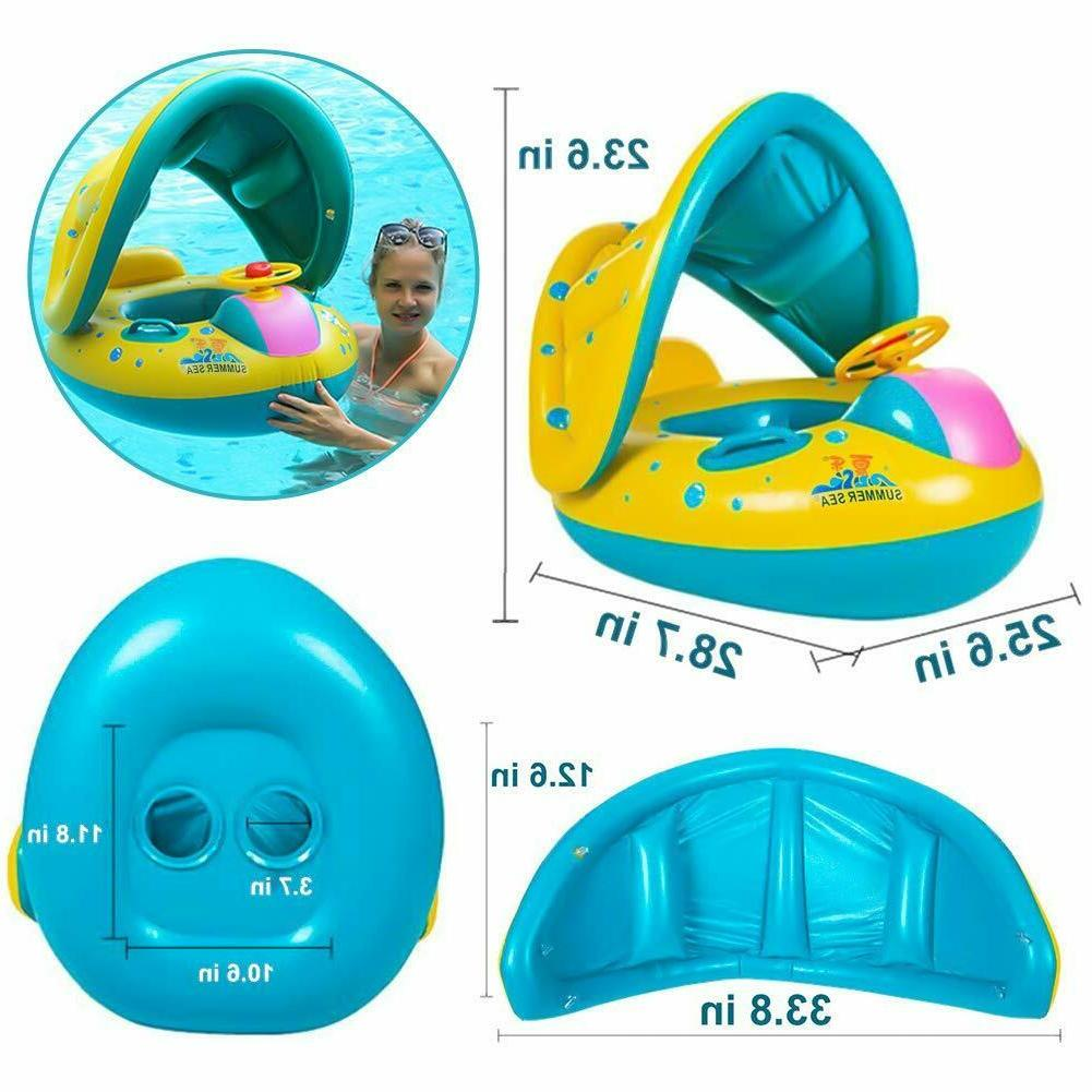 Baby With Canopy Floaties For New
