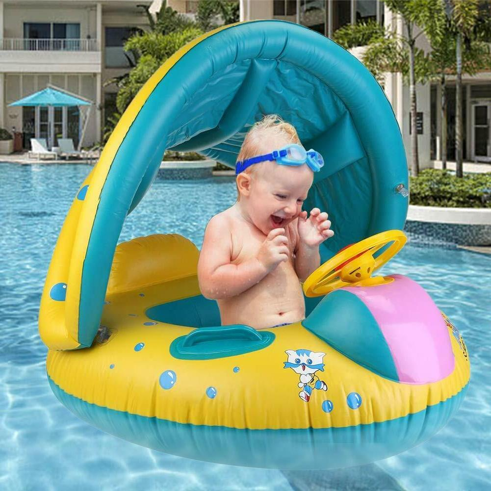 baby pool float seat with canopy floaties