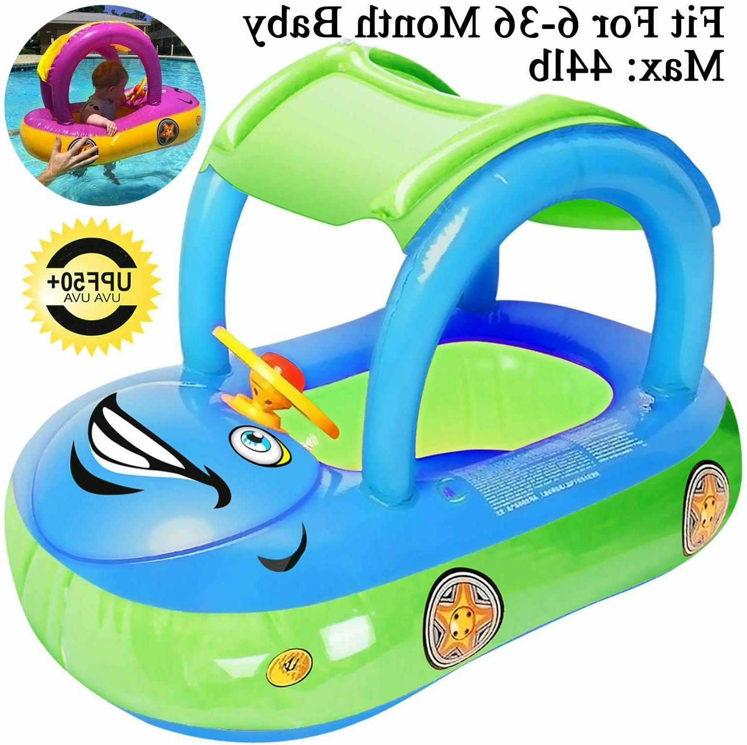 Baby Canopy, Car Shaped Swim Float with